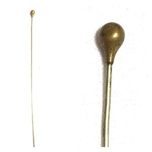 Vintage hat stick pin gold teardrop